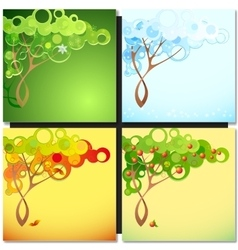 Abstract season tree vector