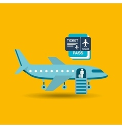 Airplane flight design vector