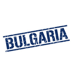 Bulgaria blue square stamp vector