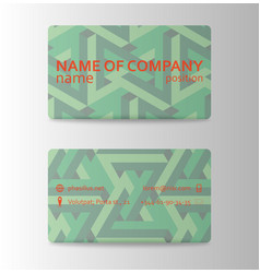 business card ideas for designers and web design vector image vector image
