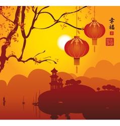 China lantern vector