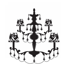 Classic baroque chandelier vector
