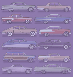 classic cars vector image vector image