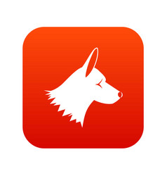 Collie dog icon digital red vector