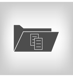 Computer folder with document sign vector