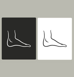 foot - icon vector image