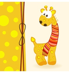 Giraffe with scarf vector