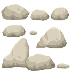 Graphic of rock stone set vector