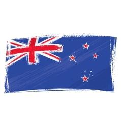 grunge new zeland flag vector image vector image