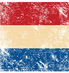 Holland retro flag vector image
