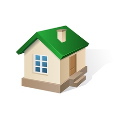 house with green roof vector image