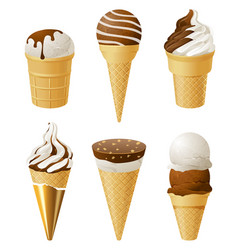 Ice cream icons vector