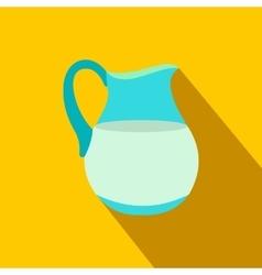 Jug of milk flat icon vector