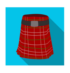 Kilt icon in flat style isolated on white vector
