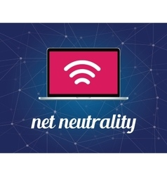 Net neutrality concept with signal vector