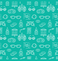 Ophthalmology eyes health care seamless pattern vector