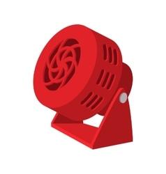 Red fan cartoon icon vector