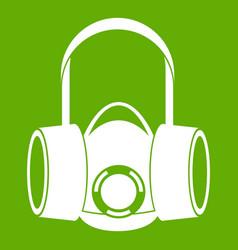 Respirator icon green vector