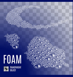 seamless soap-foam vector image