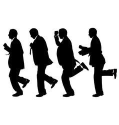 set of men running vector image vector image