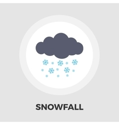 Snowfall icon flat vector