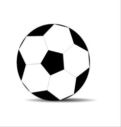 Soccer ball black white vector image vector image