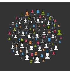 Social network3 vector image
