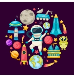 Space Colored Composition vector image vector image