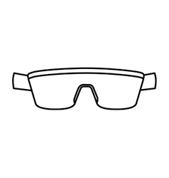 sport sunglasses isolated icon vector image vector image