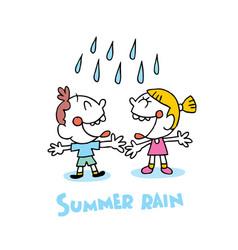Summer rain vector
