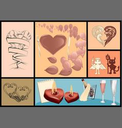 Valentines day festive set vector