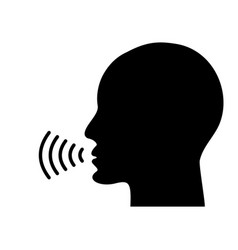 voice talking icon vector image