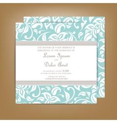 Wedding invitation blue vector