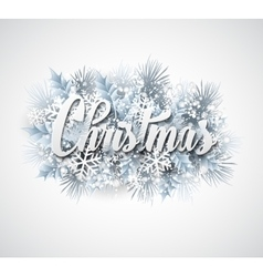 Winter inscription with fir branches and vector image vector image