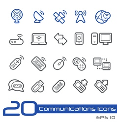Wireless communications outline series vector