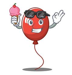 With ice cream balloon character cartoon style vector