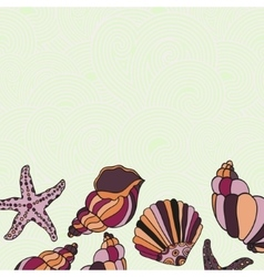 Frame of Shells vector image