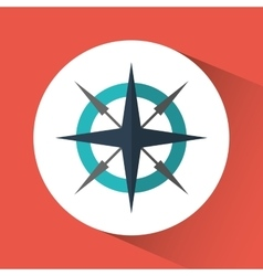 Compass travel instrument icon graphic vector