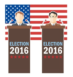 Usa 2016 election card with country flag and candi vector
