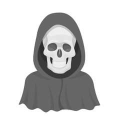 Death icon in monochrome style isolated on white vector