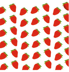 Strawberry fruit harvest fresh seamless pattern vector