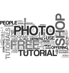 Why get a free photo shop tutorial text word vector