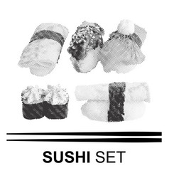 Various japanese sushi vector