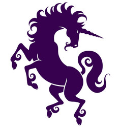 Graceful silhouette of a unicorn vector
