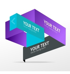origami speech templates for text vector image