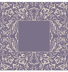 Frame floral plant background vector