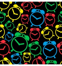 Alarm clock colors icons seamless pattern eps10 vector