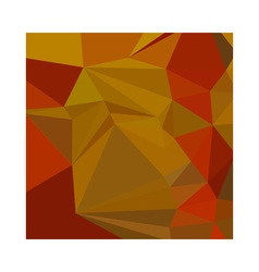 Tenne tawny orange abstract low polygon background vector