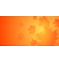 Autumn banner with blurred maple leaves vector