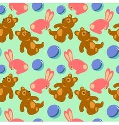 Children toys seamless retro pattern vector image